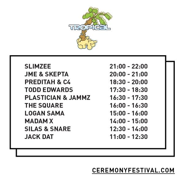 Tropical Stage at Ceremony Festival 2015, image from twitter.com/Jammz