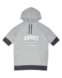 View the ADDICT WIDE RIB HOODY TEE from the  collection