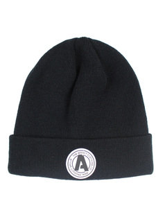ADDICT RUBBER BADGE BEANIE PLAIN